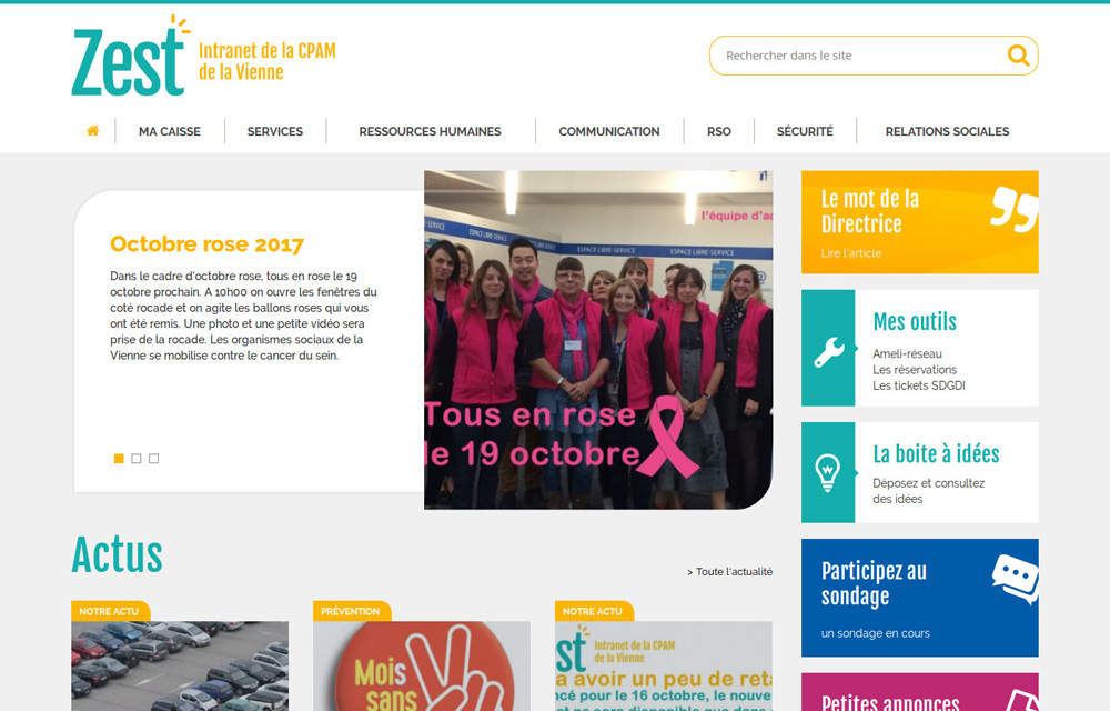 intranet cpam drupal php